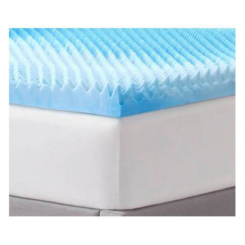 "3"" Reversible Memory Foam Mattress Topper - Comfort Revolution - image 1 of 4"