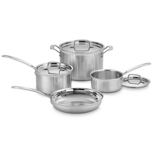 Cuisinart MultiClad Pro 7pc Stainless Steel Tri-Ply Cookware Set - MCP-7NP1 - image 1 of 4
