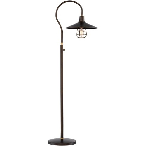 Franklin Iron Works Industrial Floor Lamp Oiled Rubbed Bronze Metal Cage Barn Light Shade for Living Room Reading Bedroom Office - image 1 of 4