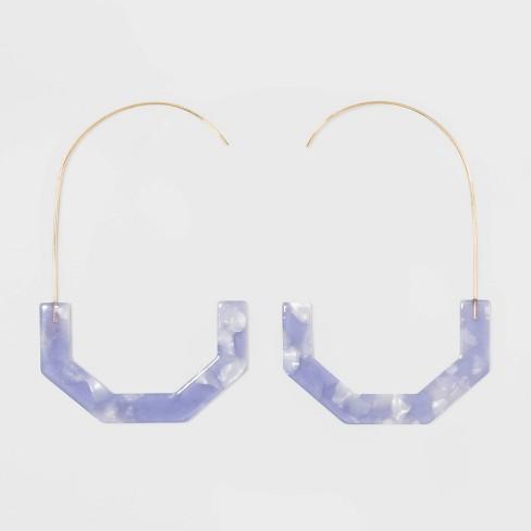 SUGARFIX by BaubleBar Geometric Resin Threader Earrings - image 1 of 3