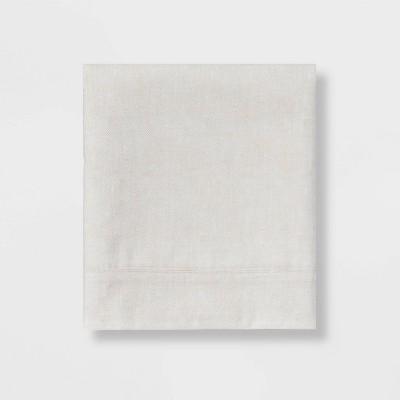 Queen 300 Thread Count Herringbone Ultra Soft Flat Sheet Tan - Threshold™