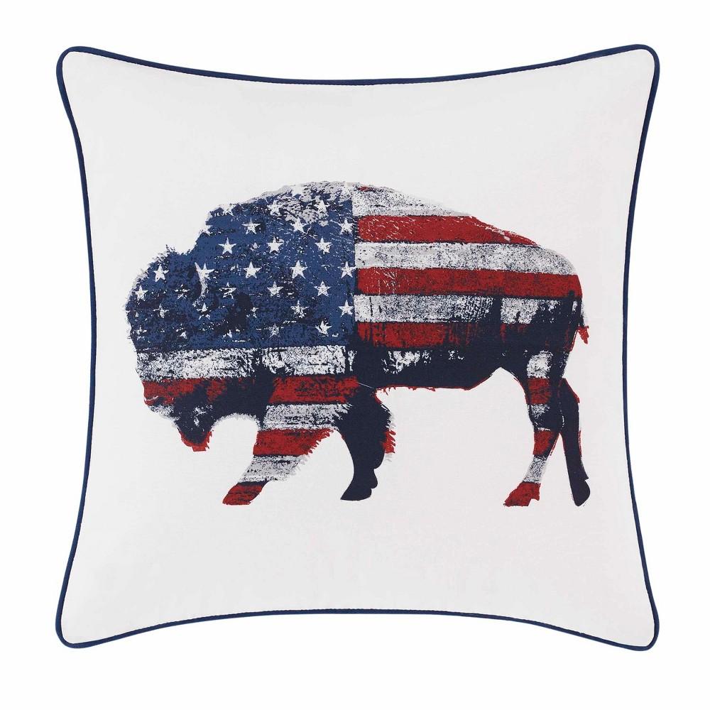 Bison Throw Pillow Blue - Eddie Bauer