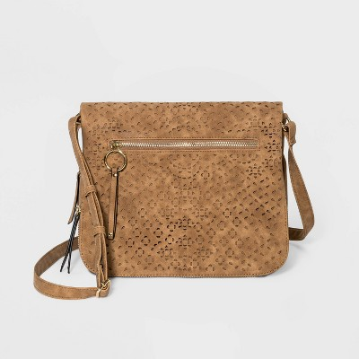 VR NYC Snap Closure Messenger Bag - Brown
