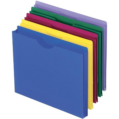 Pendaflex Polyethylene Expanding File Jacket, 8-1/2 x 11 Inches, 1 Inch Expansion, Assorted Colors, pk of 10