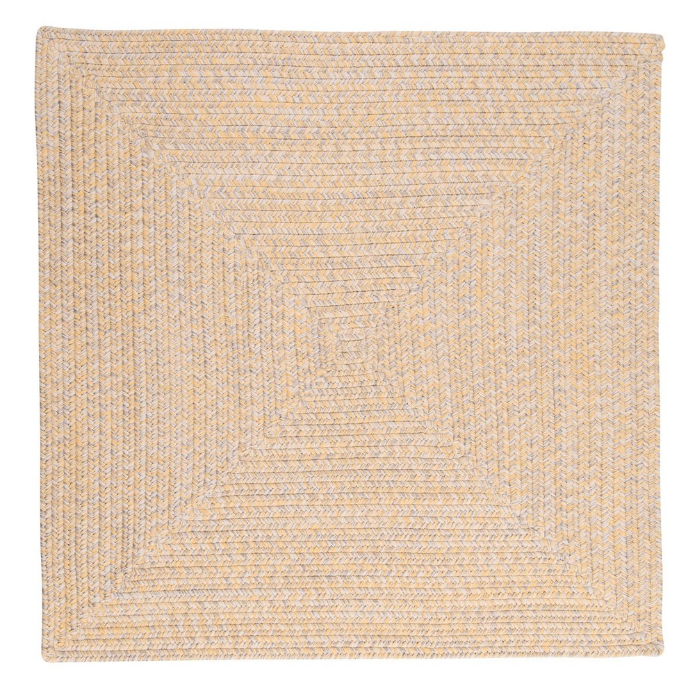 Island Tweed Braided Square Area Rug Yellow