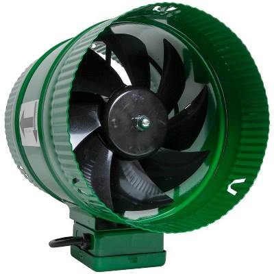 Active Air ACFB8 8 Inch Hydroponics Inline Duct Booster Fan 471 CFM, Green