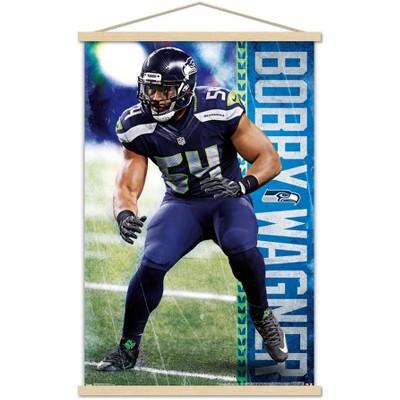 Trends International NFL Seattle Seahawks - Bobby Wagner 17 Framed Wall Poster Prints