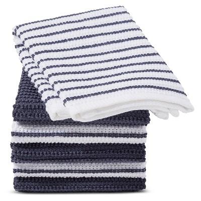 Blue Stripe Dish Cloth (6 Pk)- Room Essentials™