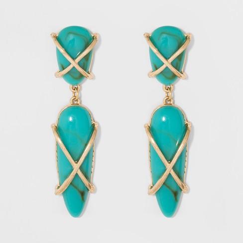 Sugarfix By Baublebar Gemstone Drop Earrings