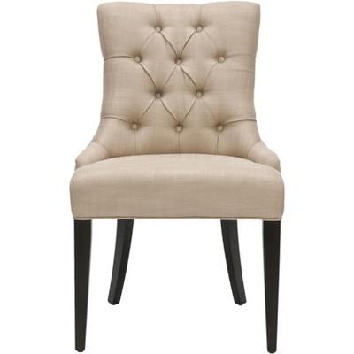 """Amanda 19""""H Tufted Chair w/ Nickel Nail Heads  - Safavieh"""
