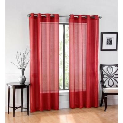 GoodGram Basic Home Grommet Top Single Sheer Window Curtains