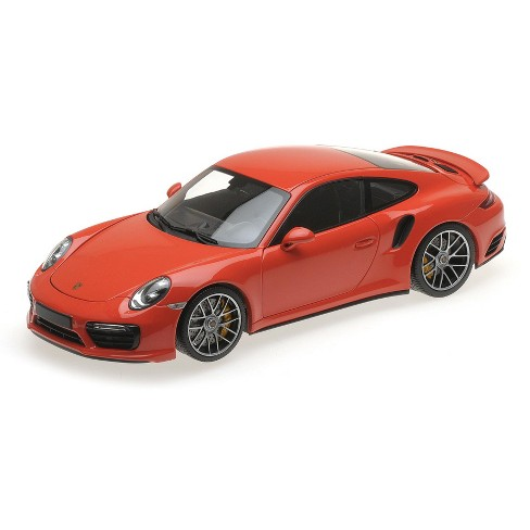 2016 Porsche 911 Turbo S Orange Limited Edition to 504 pieces Worldwide 1/18 Diecast Model Car by Minichamps - image 1 of 4