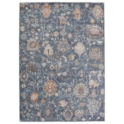 Feyre Oriental Area Rug Dark Blue/Tan - Jaipur Living