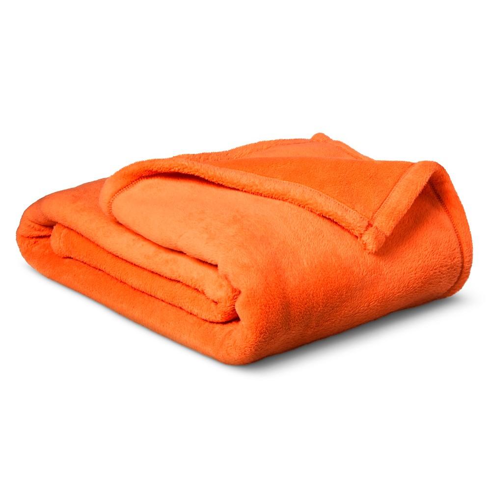Plush Blanket - Pillowfort, Wild Orange