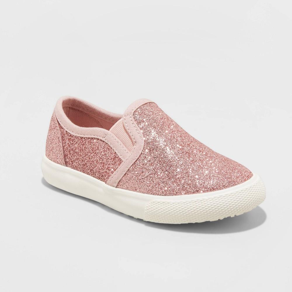 Toddler Girls 39 Madigan Slip On Glitter Apparel Sneakers Cat 38 Jack 8482 Rose Gold 6