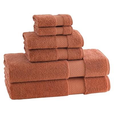 Kassatex Elegance Turkish Cotton 6pc Towel Set - Cayenne