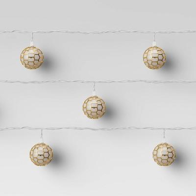 10ct Incandescent Globe Plastic String Lights Gold - Opalhouse™