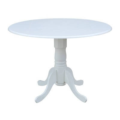 """42"""" Mason Round Dual Drop Leaf Dining Table - International Concepts"""