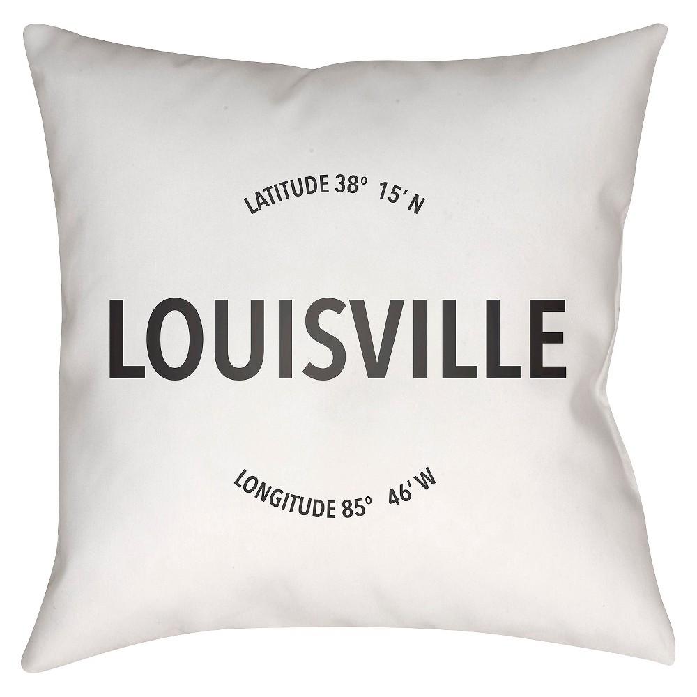 White City Compass Louisville Throw Pillow 18