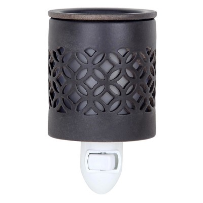 6.5  x 3  Plug-In Fragrance Warmer Lattice Gray - Home Scents By Chesapeake Bay Candle
