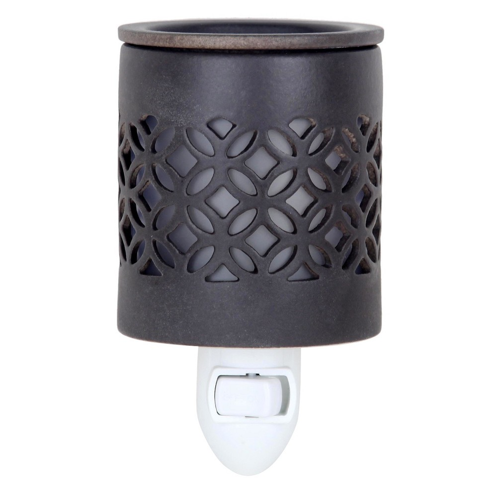 """Image of """"6.5"""""""" x 3"""""""" Plug-In Fragrance Warmer Lattice Gray - Home Scents By Chesapeake Bay Candle"""""""