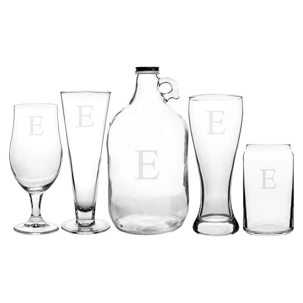 Cathy's Concepts 5pc Craft Beer Party Glasses E, Clear