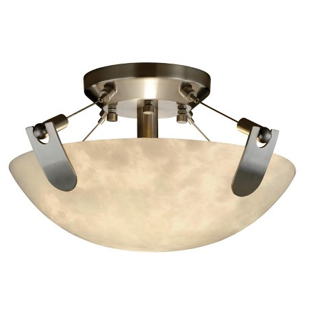 """Justice Design Group CLD-9610-35 Clouds 13.75"""" Round Bowl Semi Flush Mount Ceiling Fixture - image 1 of 1"""
