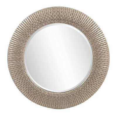 Round Bergman Decorative Wall Mirror Dark Silver - Howard Elliott