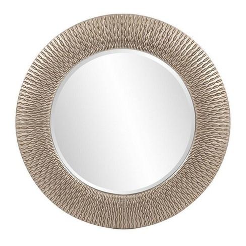 Round Bergman Decorative Wall Mirror Dark Silver - Howard Elliott - image 1 of 4