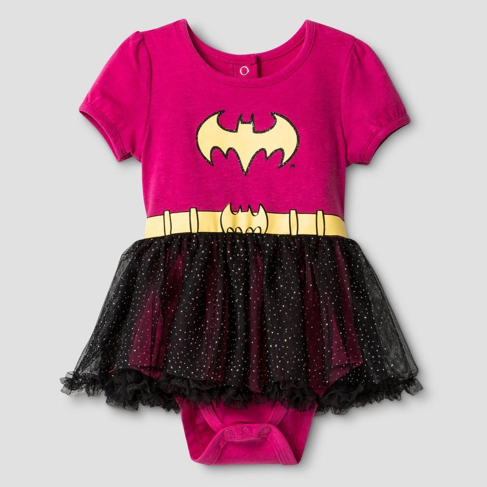 Baby Girls Batgirl Bodysuit With Tutu Set Pink 0 3m