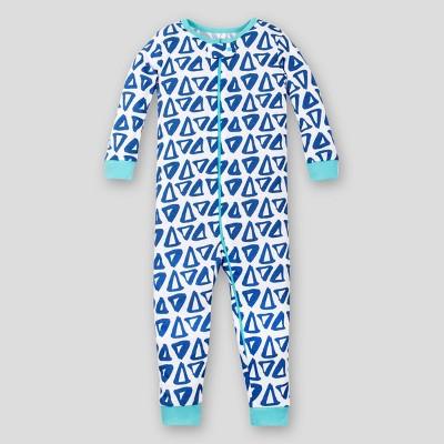 Lamaze Baby Boys' Triangle Footless Organic Cotton Long Sleeve Stretchy One Piece Pajama - Blue 18M