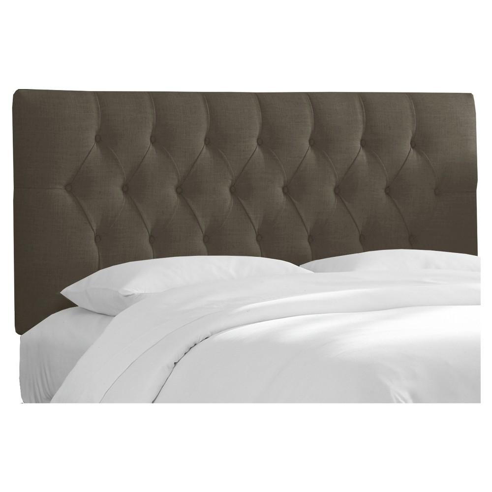 California King Jasmine Tufted Upholstered Headboard Linen Slate - Cloth & Co.