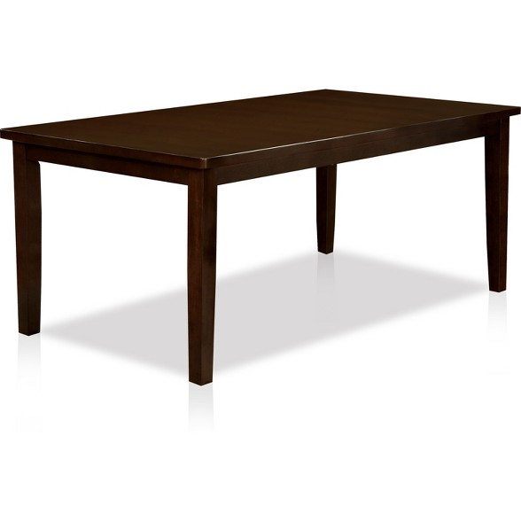 Nelson Wooden Top Dining Table Dark Cherry Iohomes