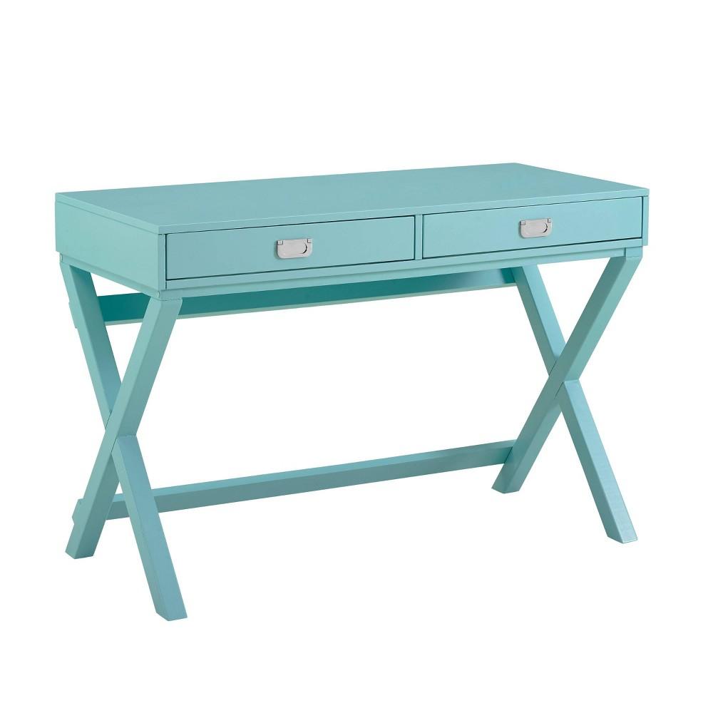 Peggy Writing Desk Blue - Linon Peggy Writing Desk Blue - Linon