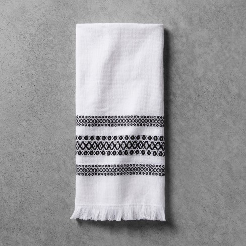 Hand Towel - Black/White - Hearth & Hand™ with Magnolia - image 1 of 2