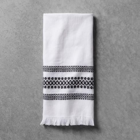 Hand Towel Black White Hearth Hand With Magnolia