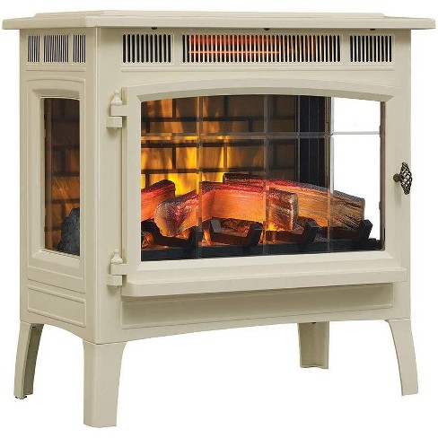 Duraflame 3d Cream Infrared Electric Fireplace Stove With Remote Control Dfi 5010 04 Target