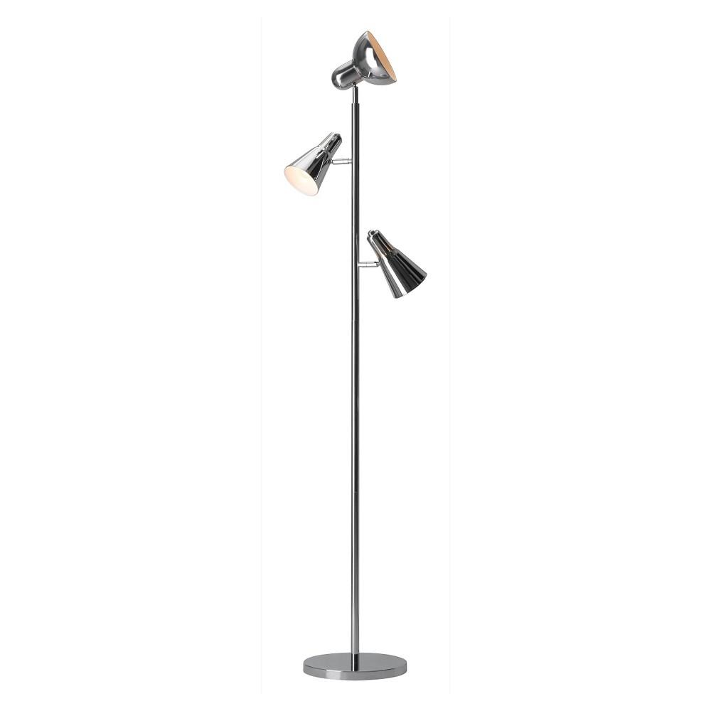 Modern Chrome (Grey) 66 Floor Lamp (Lamp Only) - ZM Home