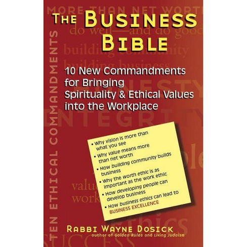 The Business Bible - by  Wayne Dosick (Paperback) - image 1 of 1