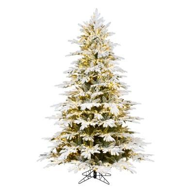 Vickerman Flocked Kamas Fraiser Fir Artificial Christmas Tree