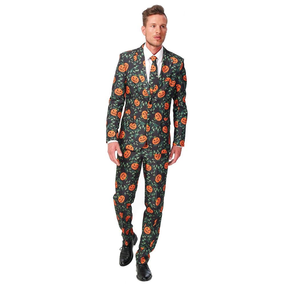 Men's Pumpkin Leaves Suit Costume Large, Black