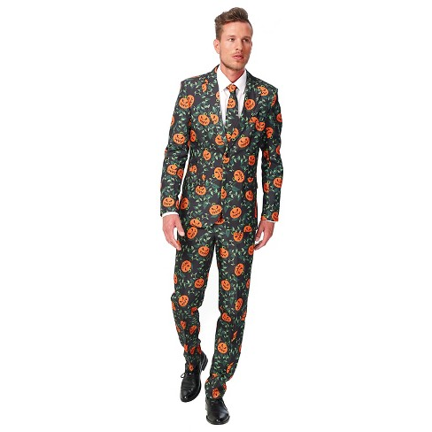 Men's Pumpkin Leaves Suit Costume - image 1 of 2