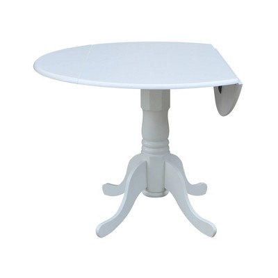 "42"" Round Drop Leaf Pedestal Dining Table - International Concepts : Target"