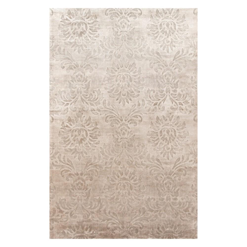 8'X11' Damask Loomed Area Rug Sand (Brown) - Momeni
