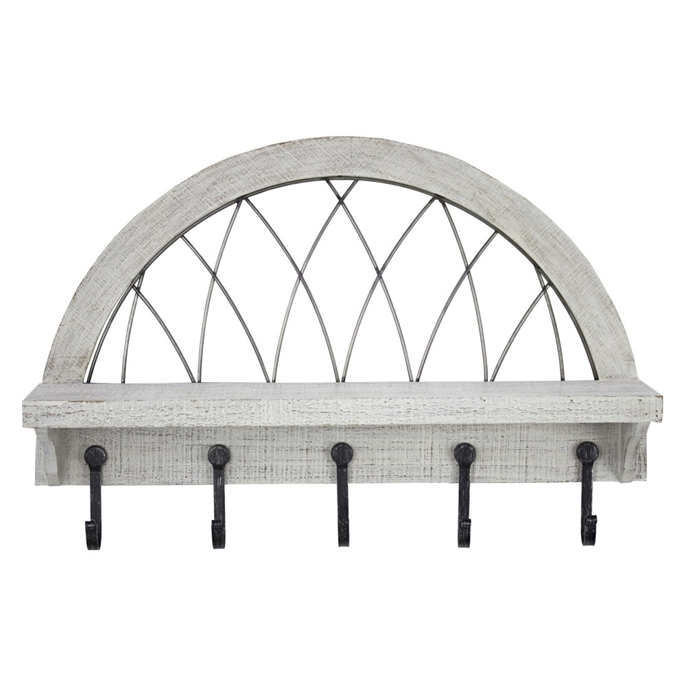 "Image of ""24"""" x 16"""" Decorative Wall Shelf White - E2 Concepts"""