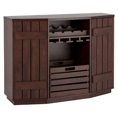 Candy Plank Inspired Dining Buffet with Removable Crate Vintage Walnut - HOMES: Inside + Out