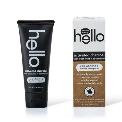 Toothpaste: Hello Activated Charcoal Epic Whitening