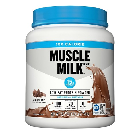 Muscle Milk® 100 Calories Low-Fat Protein Powder - Chocolate - 1.65lb - image 1 of 1