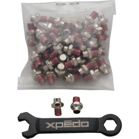 "Xpedo Face Off Pedals 50 piece Straight Pin Kit, Silver, 9/16"" Pedal Spindle - image 1 of 1"