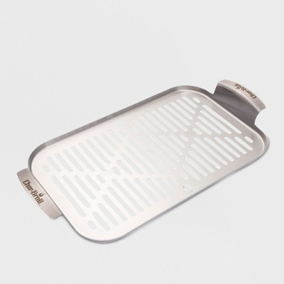 Char-Broil Grill Cookware Grill Topper Pan - Silver